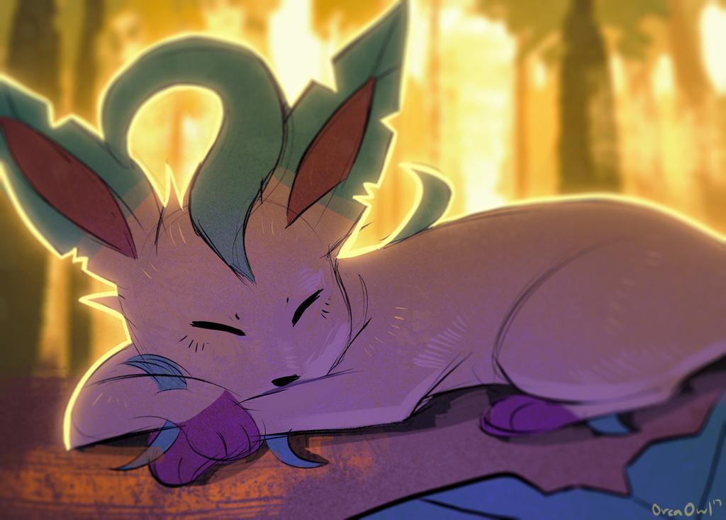 Sleeping Leafeon