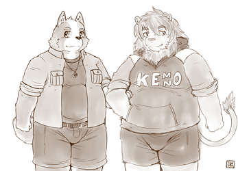 The fluffy couple