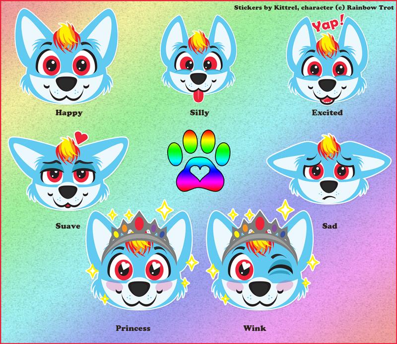 Rainbow Trot Telegram Sticker Set