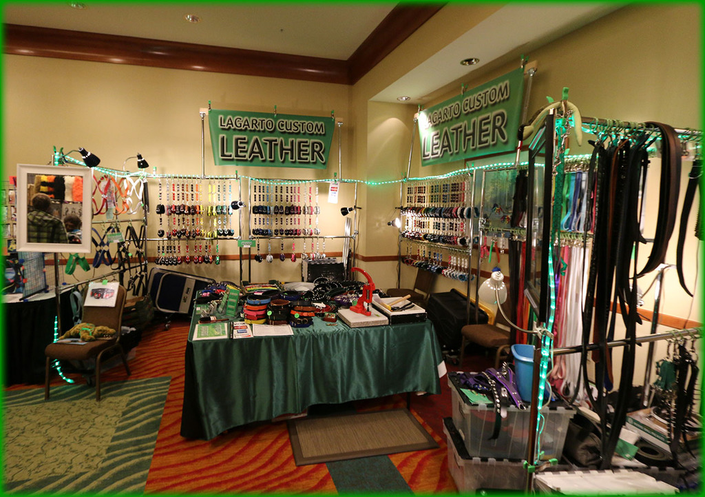 RF 2014 Lagarto Custom Leather Booth