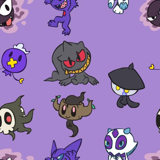 Chibi Ghost Pokemon BG