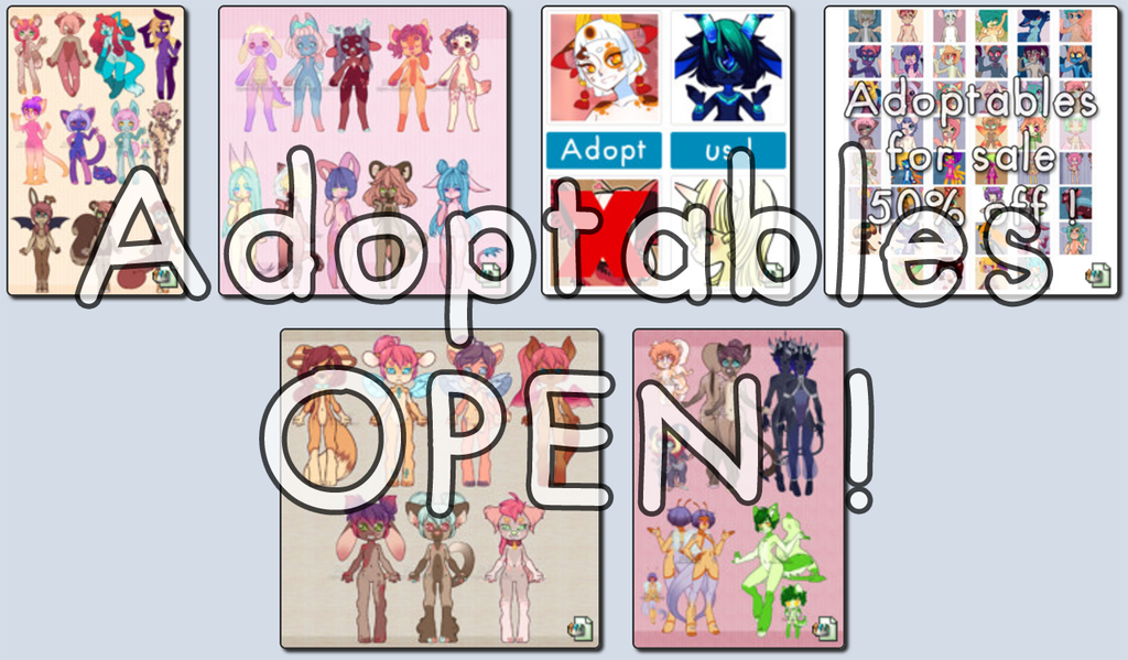 Most recent image: ADOPTABLES OPEN ! - 50% OFF !