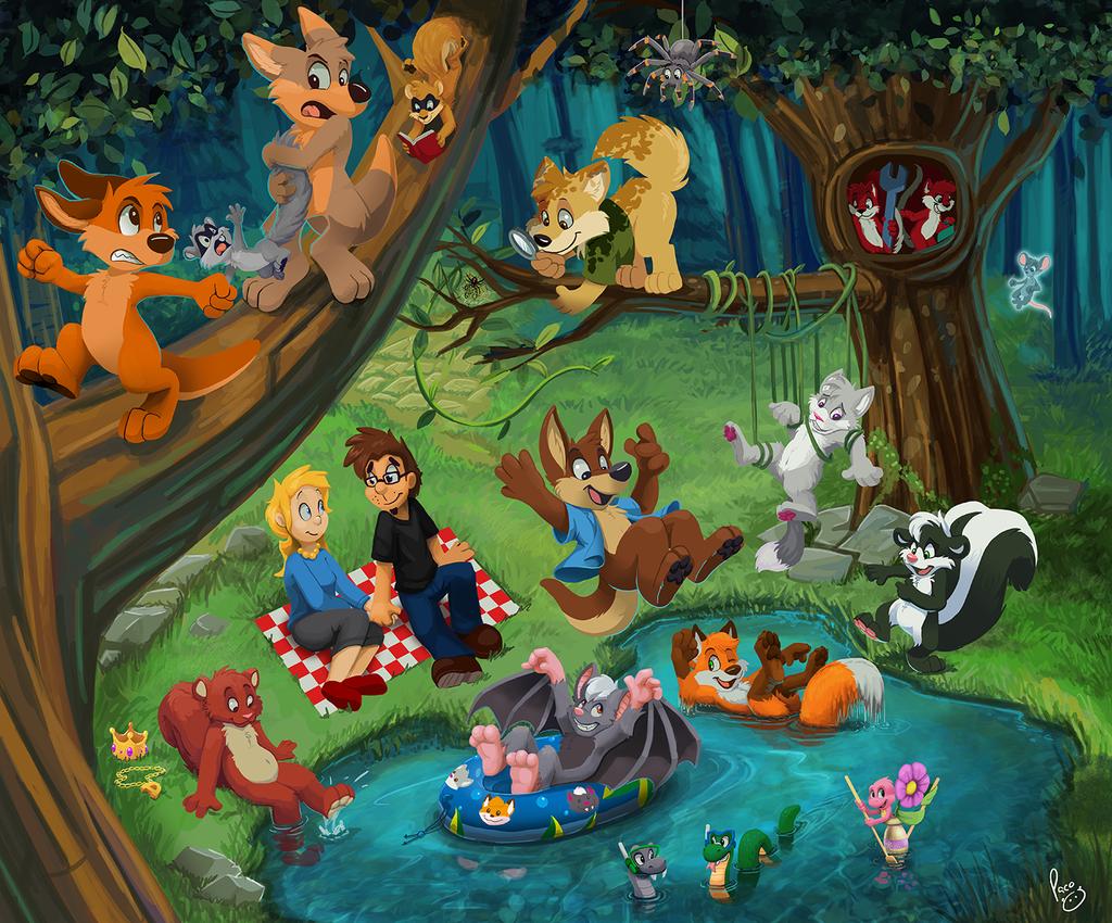 Freddy Fox and friends