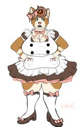"""What a cute cafe maid"" 💢"