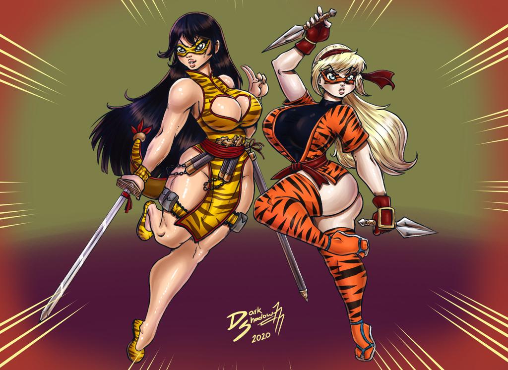[Comm] Lady Tigre & Chica Tigre