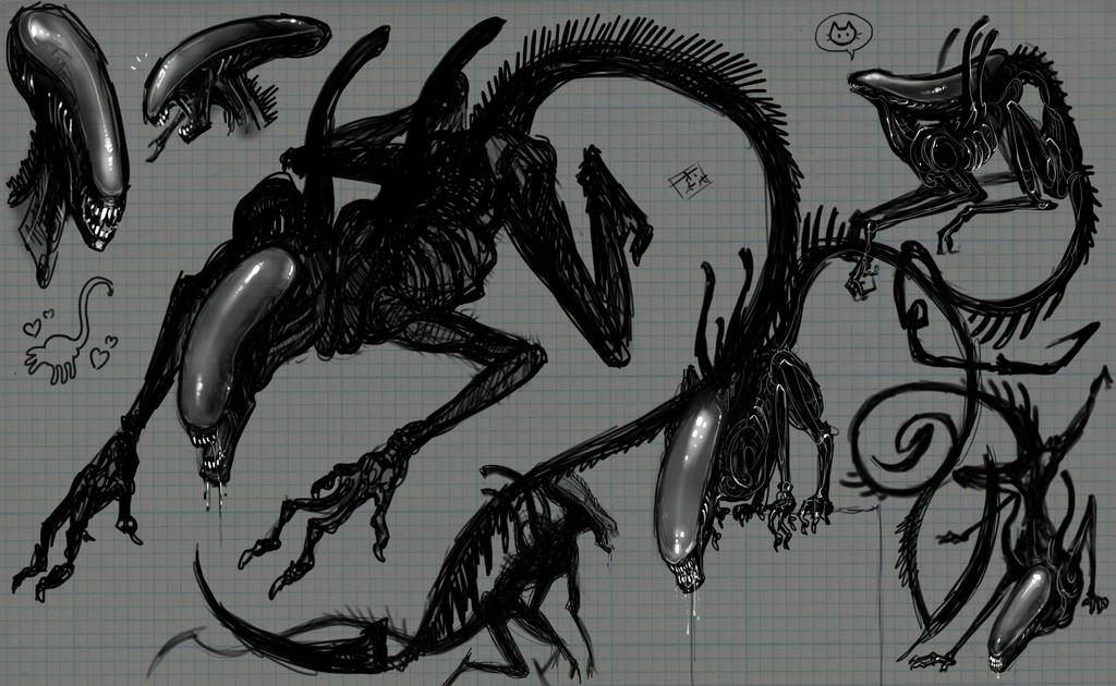 Xenomorph sketches