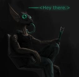 Cyberpunk lizard