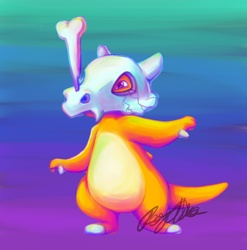 Trainer Lisa Frank wants to battle : Cubone