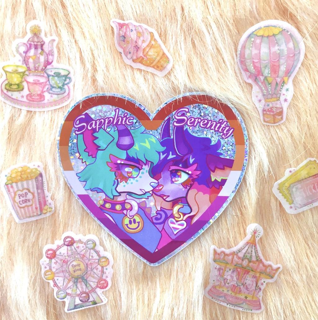 Most recent image: Sapphic Serenity Glitter Sticker
