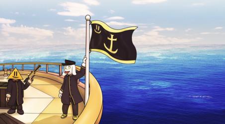 treasure hunt on the sea