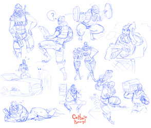 Sketchpage Commssion ~ Turian Renegade