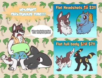 Flat Summer Sale!