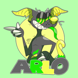 Arlo's toony badge!