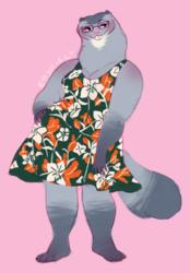 Mink in a dress