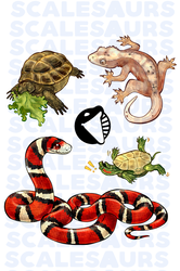 Reptile Sticker Set