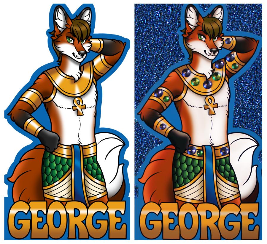 Glitter Badge - George