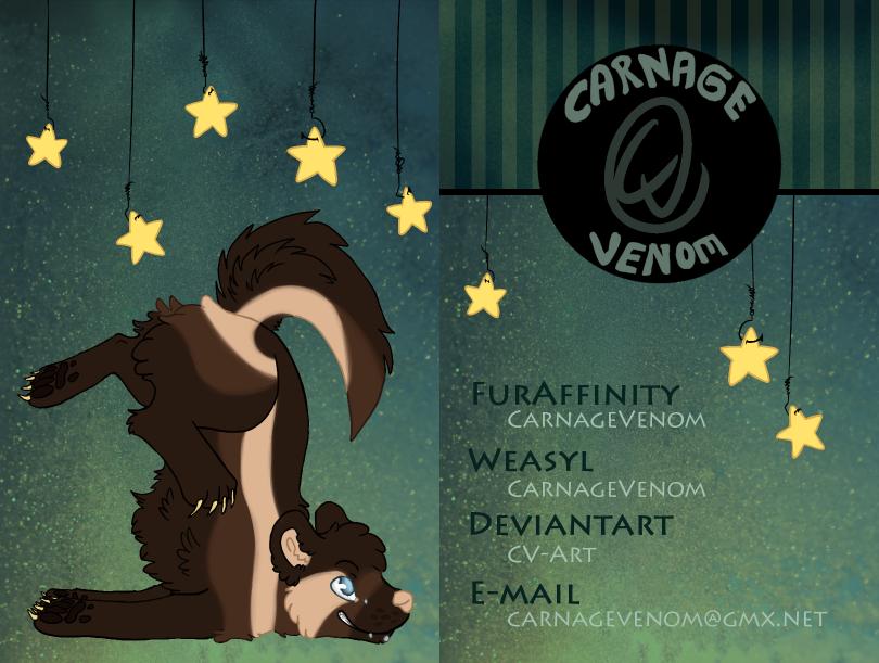 Business Card CarnageVenom 2014