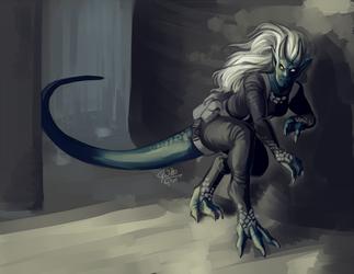 """The Dino-Lady"""