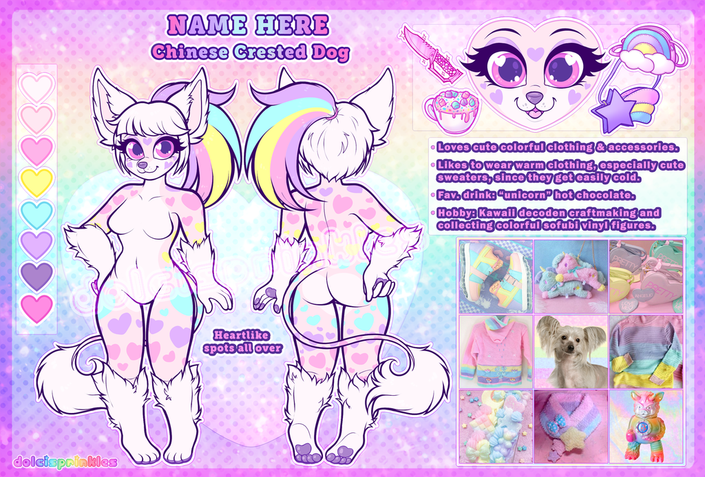 Auction: Pastel Crested Dog Adopt (CLOSED)