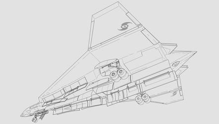 Tolesian FUA-3 Fighter Bomber Bottom Rear