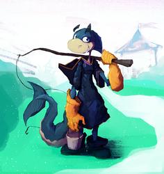 Shark-fisherman