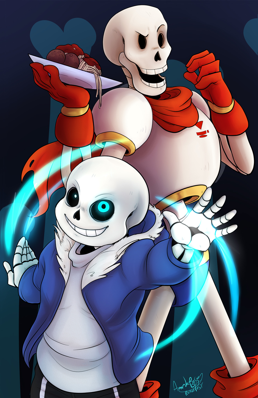 Most recent image: Sans and Papyrus - finished- with video