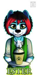 $25 Cafe themed badges -Ester - Example