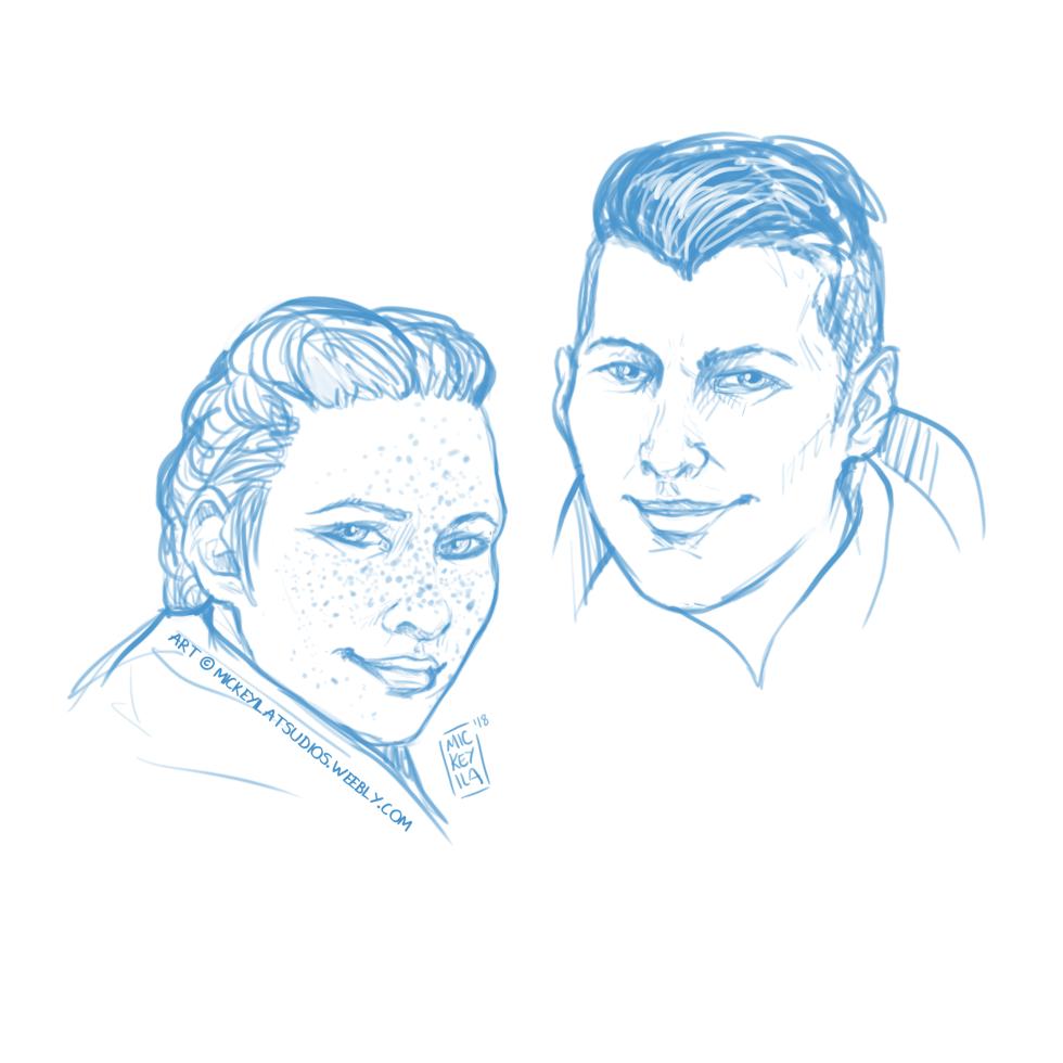 Harding and Krem - Warm up sketches