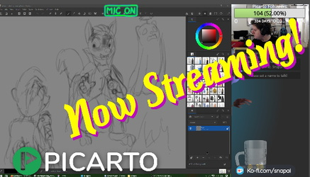 Multistreaming with Izzy on Picarto!