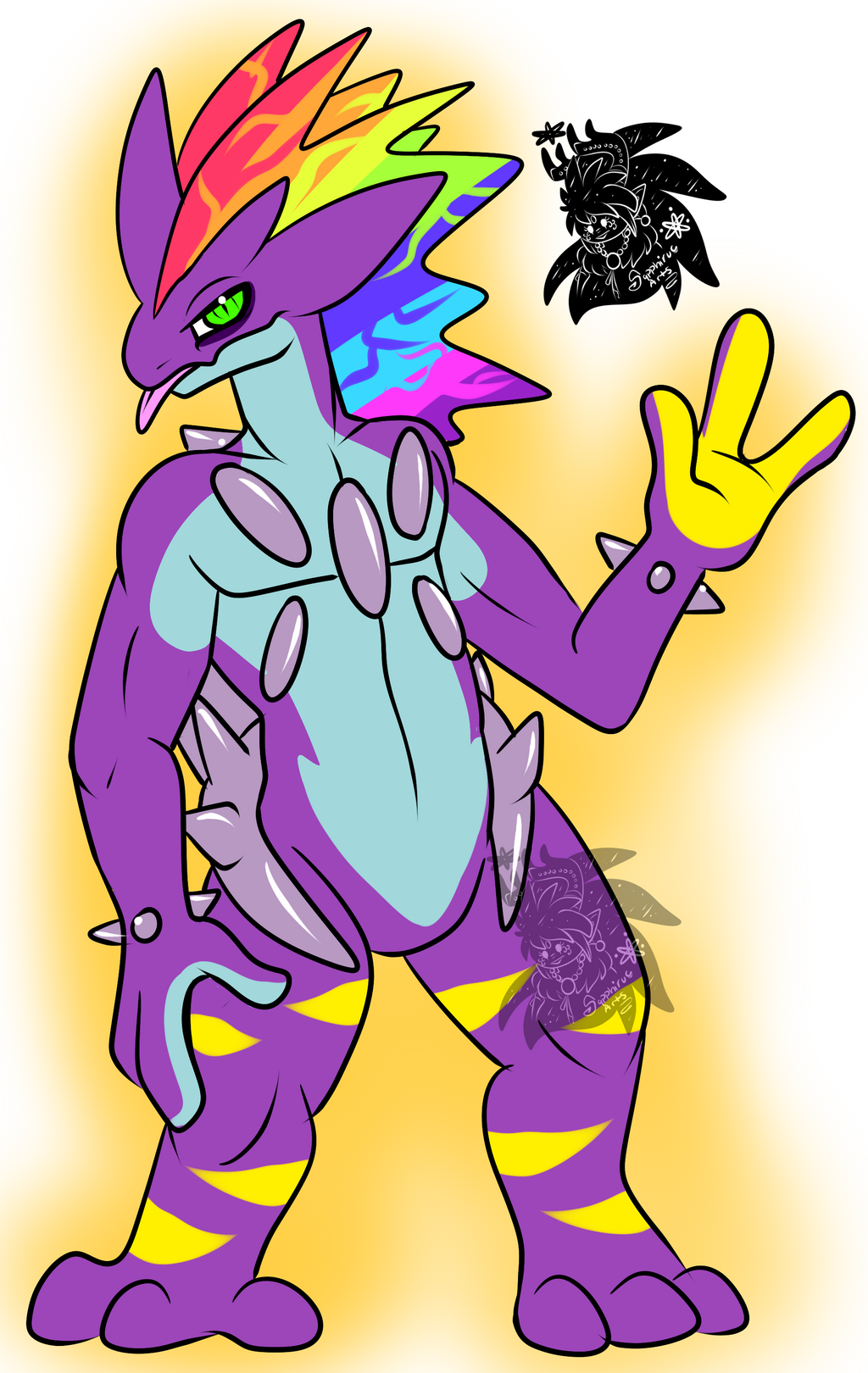 10 mil Bolts Toxtricity +Flatcolored Commission+