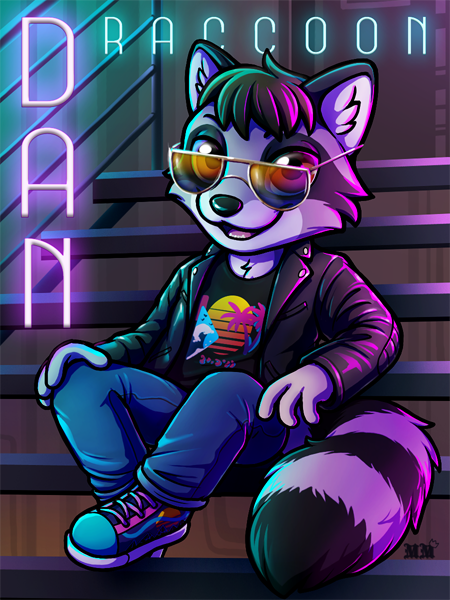 Dan Raccoon Ridicudorable Deluxe Badge