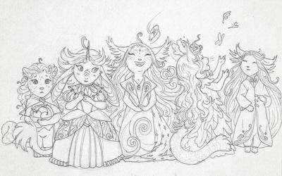 Little Valentines (Line Art)