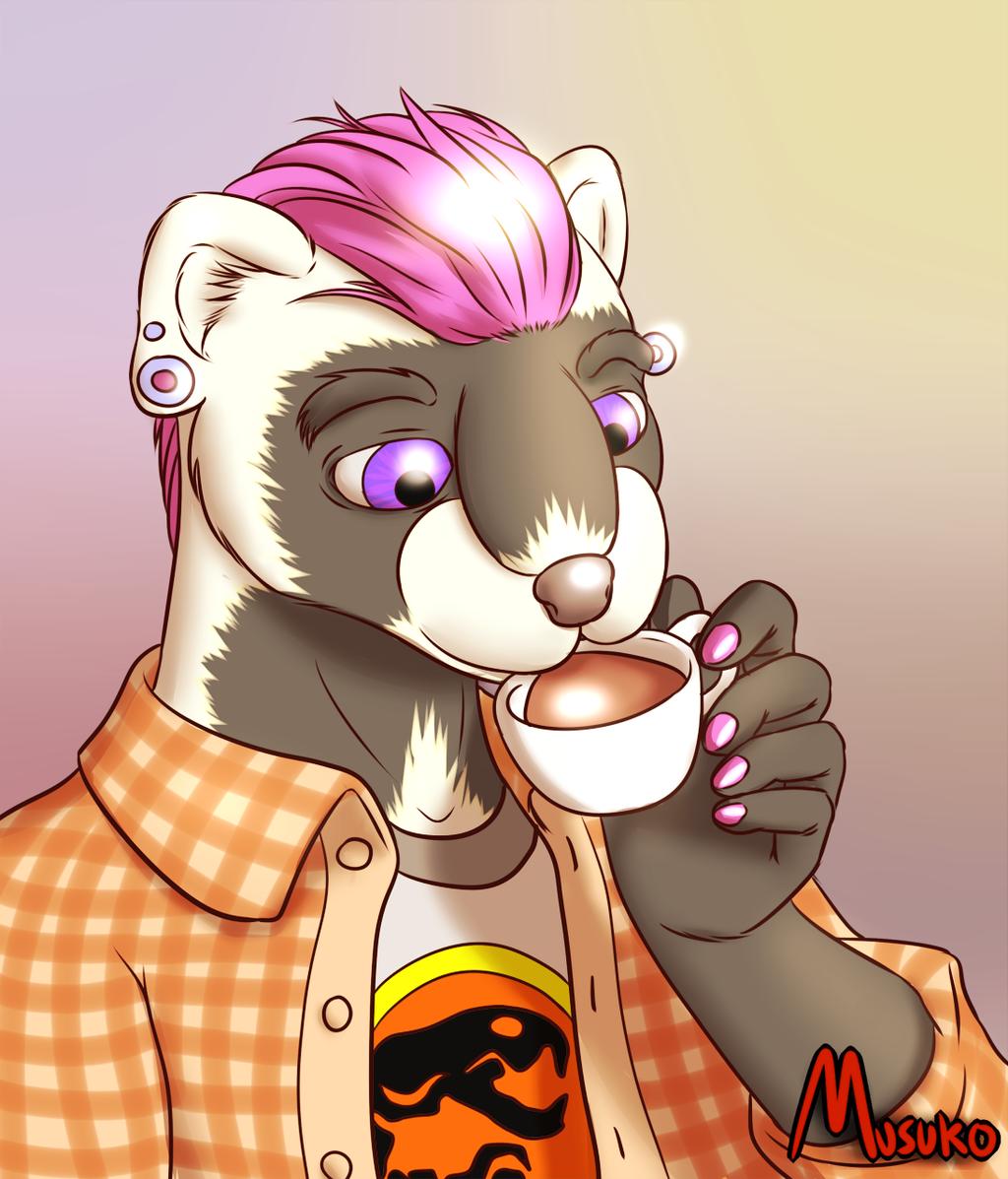 Hipster Ferret (art)