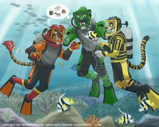 Scuba Time with Slash and Hotaru! by LennyMutt