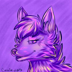 Purple woof