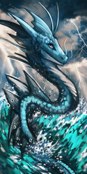 Water dragon bookmark