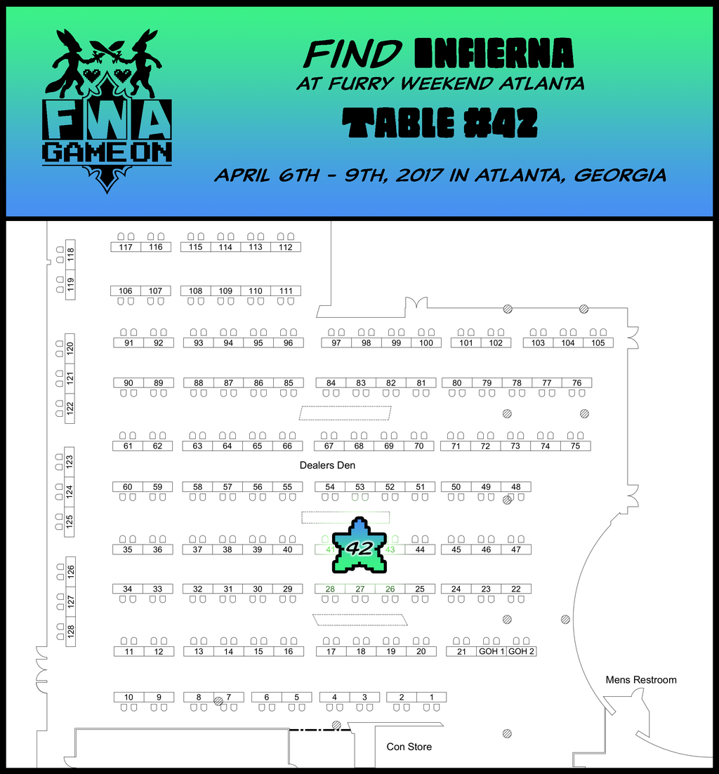 Most recent image: Find Infierna at FWA 2017!