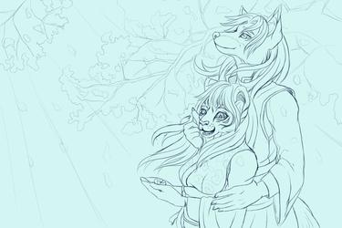 Sakura Breeze Comm Sketch