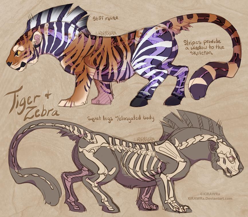 Skele Zebra Tiger (SOLD)