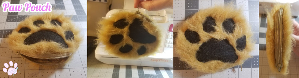 Most recent image: Paw Zipper Pouch - FOR SALE!