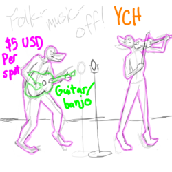 YCH: Fiddle-fight!