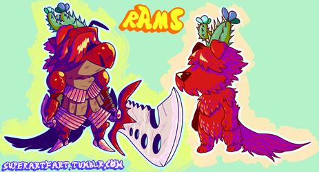 Floraverse - Crimson Clad Rams