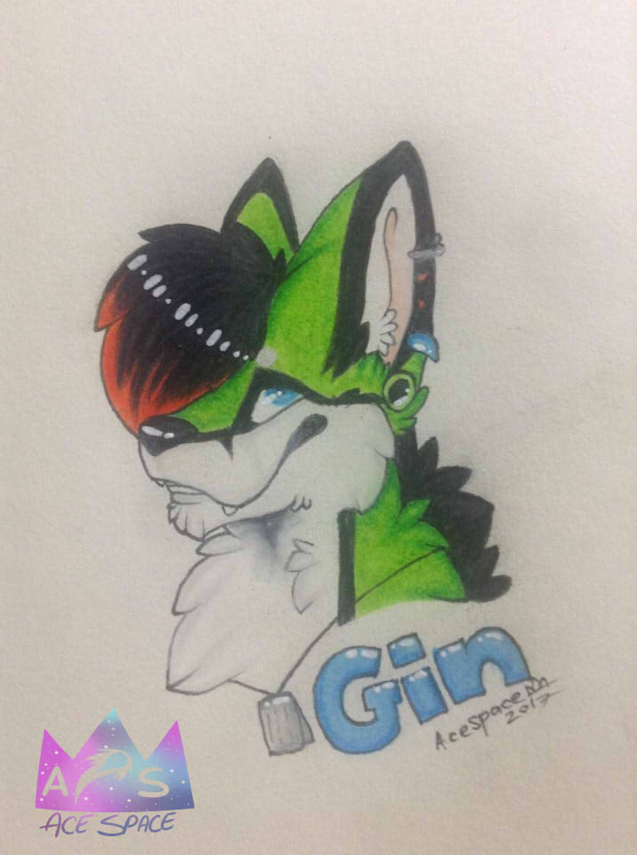 Most recent image: gin badge