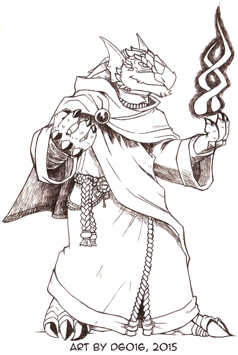 Daily Newf 201 - Dragonborn Mage