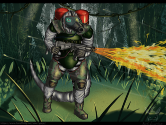 [COMMISSION] - Burn them all! (helmet version)