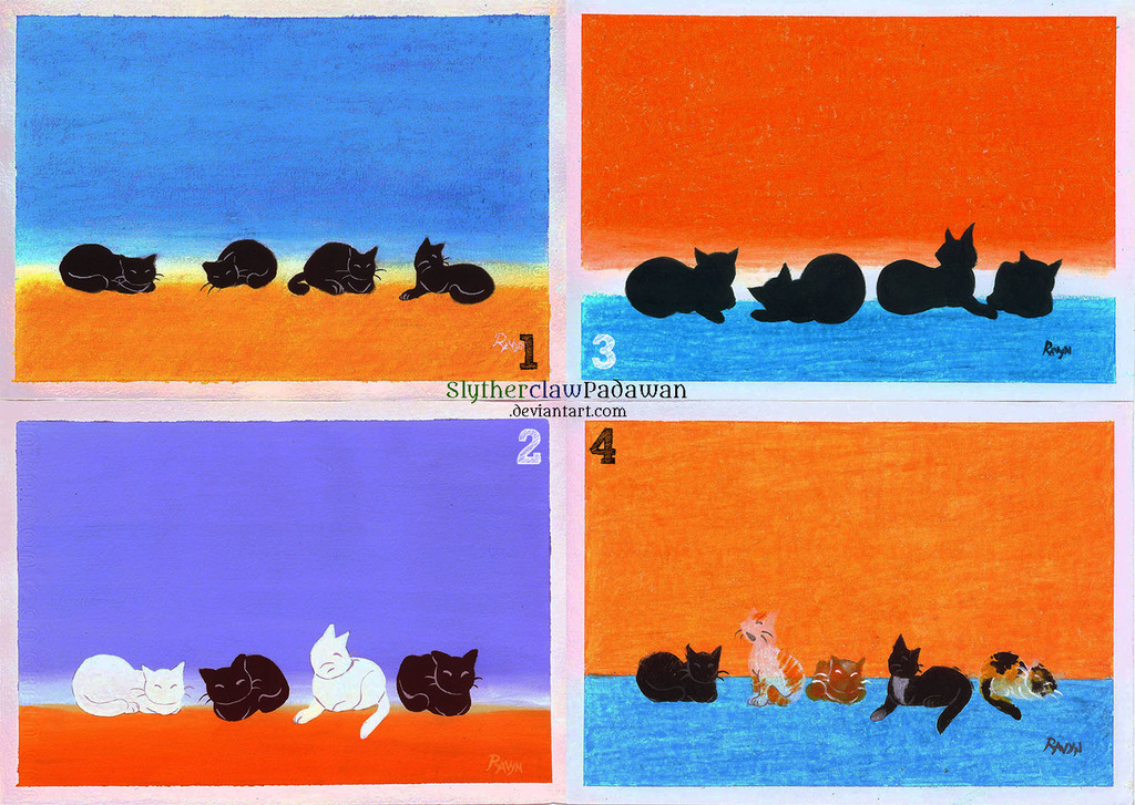 Cats, cats on the wall..