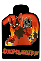 Confuzzled 2017 Badges - Devilwuff