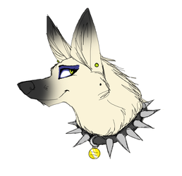 My fursona (white gsd form)