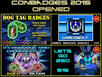 Conbadges 2015 - OPENED