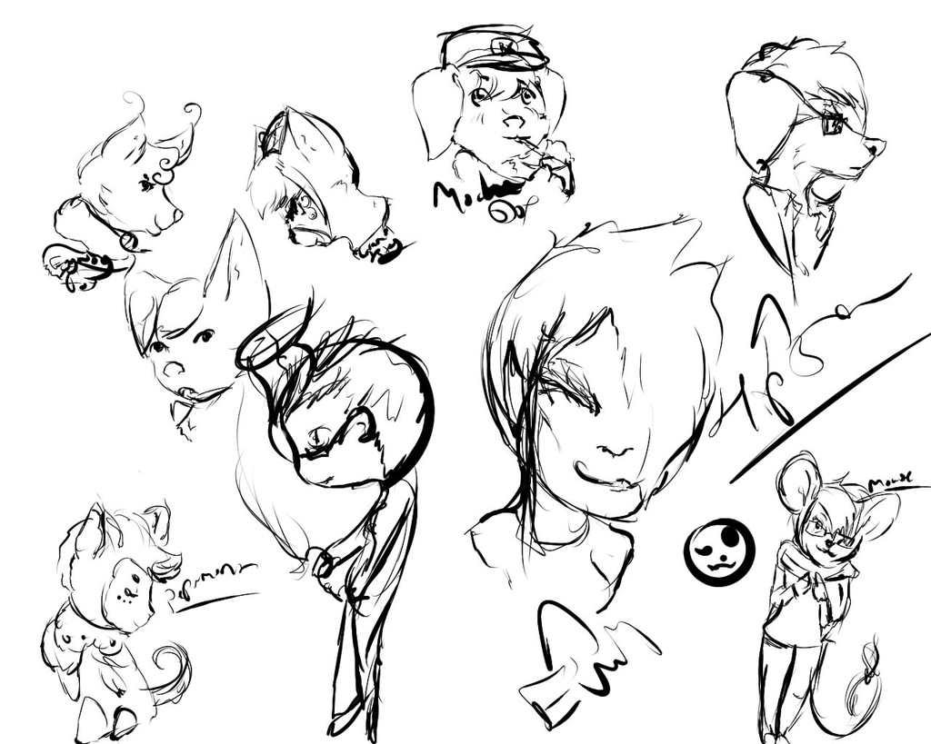 sketches of random